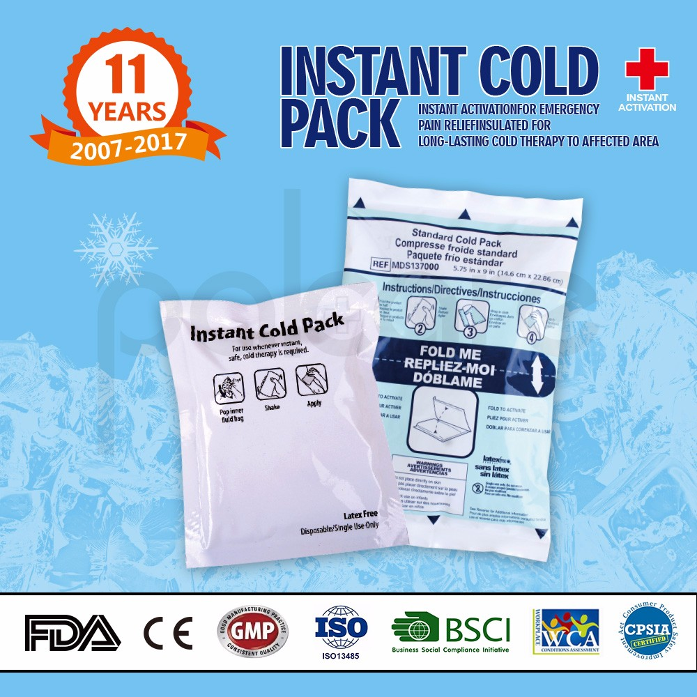Medical grade instant ice pack for insulin