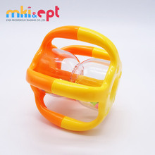Mini lovely free sample plastic baby rattle baby sway bell educational toy for kids on sale