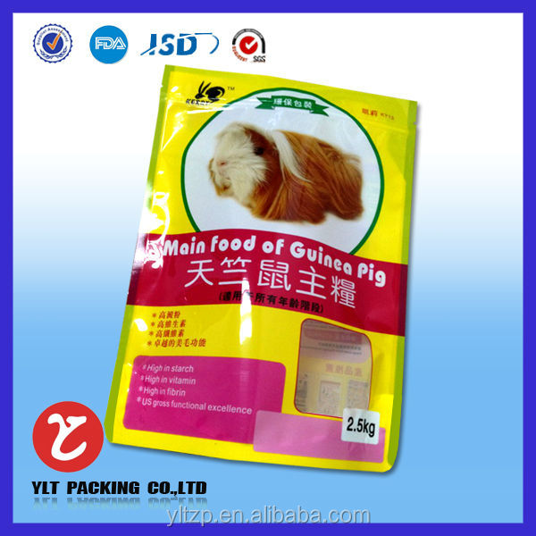 2017 hot new products for dog pet food packaging plastic zip bag