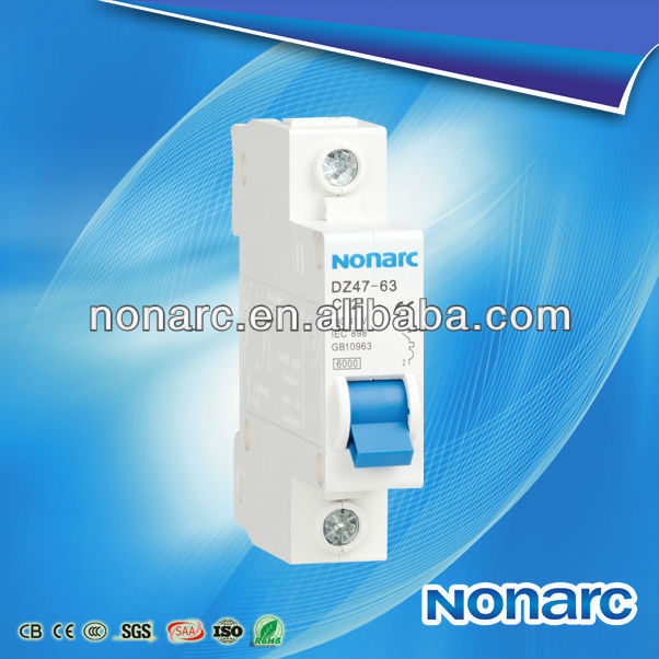 High Quality Circuit Breaker DZ47 C45 1 Pole Switch