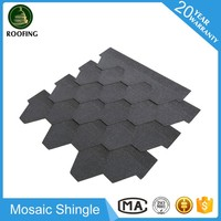 Mosaic architectural asphalt shingle manufacturer,cheap roofing materials made in China