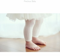 baby hollow-out mesh design combed cotton pantyhose tights