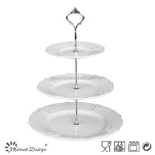 New design ceramic 3 tiers stand cake plate / cake stand wedding