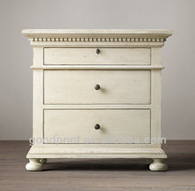 Antique Reclaimed Wooden Bedside Tables White