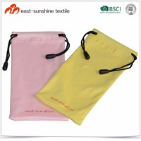 2015 New Style Microfiber Drawstring Pouch for Small Goods