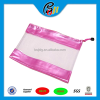 Customized school pencil pouch/ stationery zipper pouch/zipper slider plastic pencil pouch
