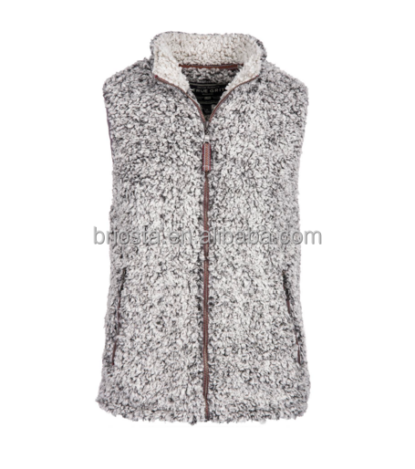 Frosty Tipped Pile Sherpa Fleece Vest Wholesale
