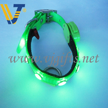 Professional christmas light up dog collar with CE certificate