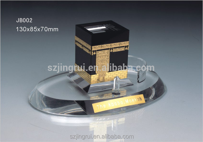 mini crystal glass model gift kaaba JB002