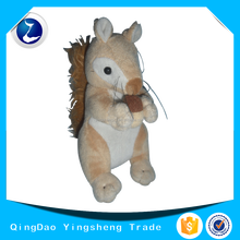 Hot sale soft custom plush toy squirrel