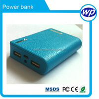 plastic power bank 6000mah-8400mah with CE ROHS ,MSDS compliant