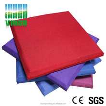 Colorful fabric covered/leather packed theater wall decoration sound absorbtion panel