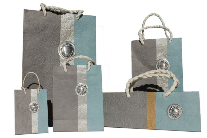 luxury high quality handmade gift paper bag for jewelry- wine bag for promotion