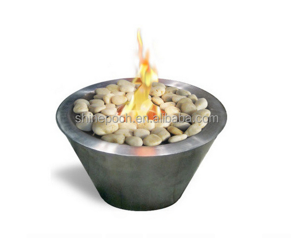 Indoor/Outdoor Garden Table Top Gel Fuel Stainless Bowl Fire Pit