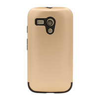 Popular selling pc and tpu gold color hybrid armor cell phone cover for motorola moto g1