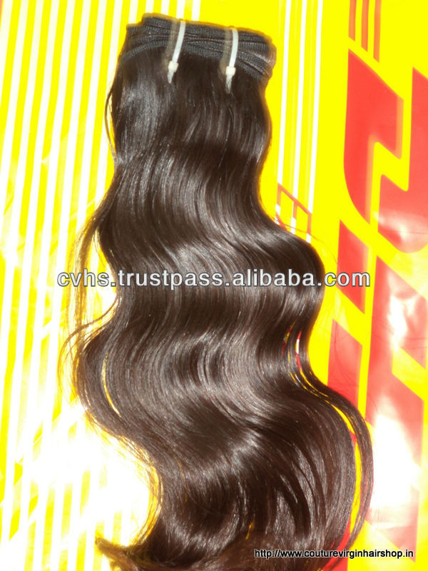 Best selling indian temple straight hair weft wholesale cheap 5a virgin body wave unprocessed virgin indian hair