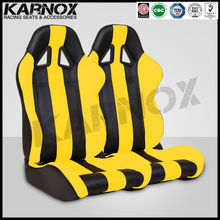 Karnox black and yellow micro fiber used car sport seats
