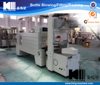 Plastic Bottles Semi Automatic Film Shrink Wrapping Machine / Shrink Packing Machine