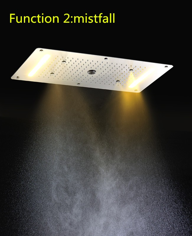 Multiple Functions Rain Waterfall Mist Embeded Ceiling Bathroom Shower head