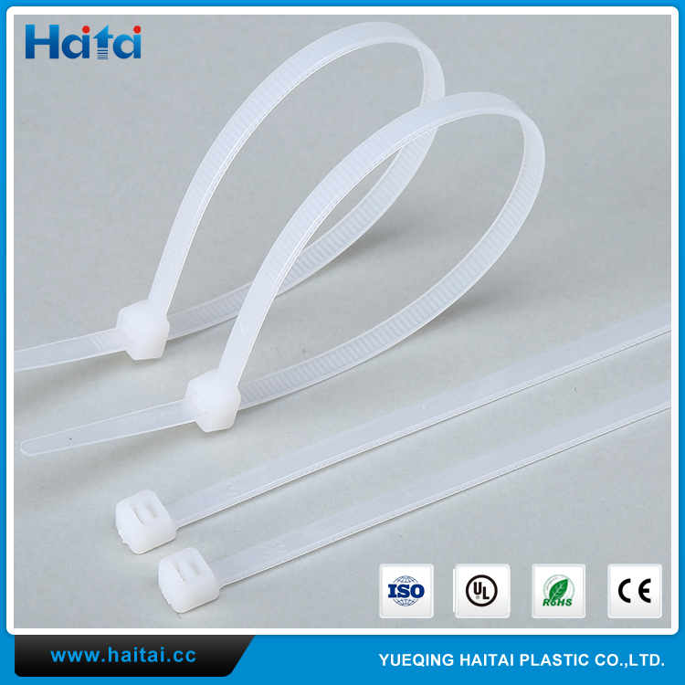 Haitai Yueqing Tie Cable Organizer HTS White Self-Locking Plastic Rubber Nylon Cable Ties