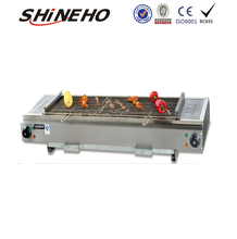 W140 Stainless Steel Electric Barbecue Lava Rock Grill Indoor