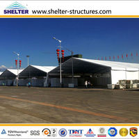 permanent tent building fabricated hangars for army warehouse use for sale