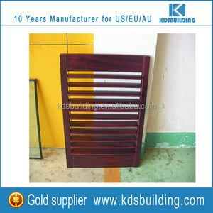 Good Ventilation Shutter Design Wooden Window Louver For American