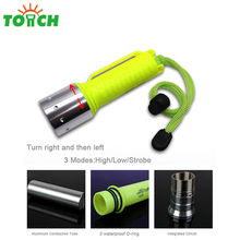 1000 Lumens Diving Equipment Light Most Powerful Waterproof Led Diving Flashlight
