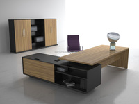 Wooden Panel Materials Office Table for Home Office Use