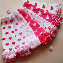 Lovely Kids Legging Tights Cotton Heart Socks Infant Toddler Ruffle Warmers Kniekousen Meisje Valentine Day Baby Leg Warmers