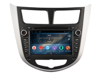 Double din Touch screen car audio video multimedia entertainment navigation system for hyundai verna