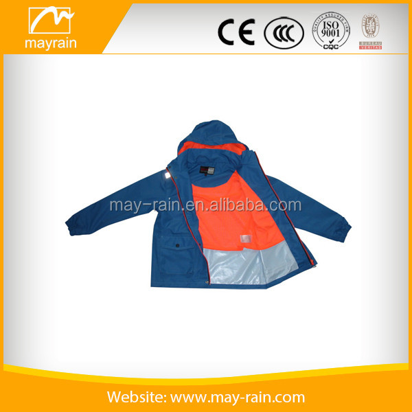 Three layers polyester for outdoor jacket fabric