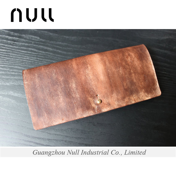 Portable personalized branded Null genuine leather leader wallet