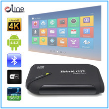 Amlogic S805 cpu Qual Core GPU Android 4.4.2 1GB DDR3 RAM 8-32GB Nand ROM DVB-S2 android tv box smart tv box android