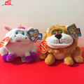 Custom funny faces animal unicorn & lion set plush stuffed toy