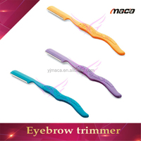 ER1404 plastic handle eyebrow scissors makeup tools