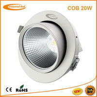 high CRI 20w rotatable recessed cob led gimbal light 230v led downlights for kitchens