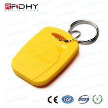 RFID transparent pvc key fob abs key tag leather door key