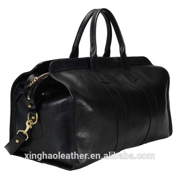 Oversized genuine cow leather Luggage Weekend Travel Duffel Bag
