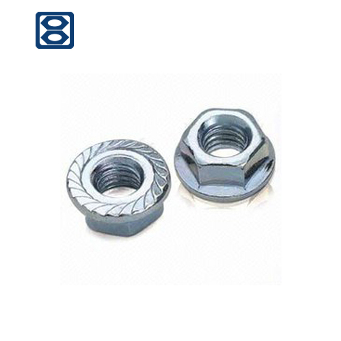 stainless Carbon steel Knurled bolt nut of DIN 6923