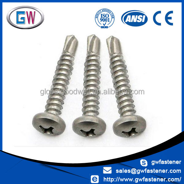ss 304 316 410 phillips pan head self drilling screws tek