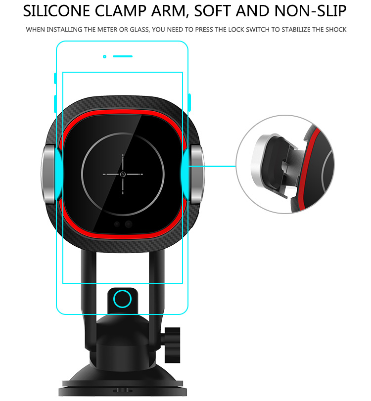 CASUN Infrared ray smart qi magnetic induction car mount wireless charger