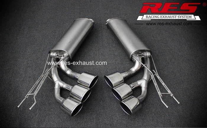 Supply best price for gr2 titanium tail section exhaust pipe with valves for Benz G55 from China manufacturer