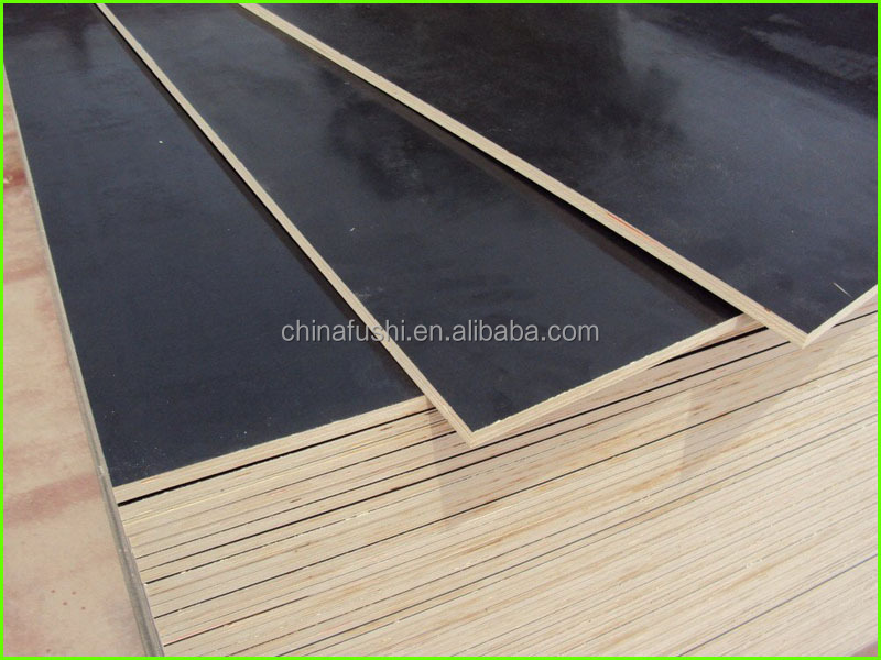 Poplar core black film faced plywood 9mm 12mm 15mm 18mm on wholesale price