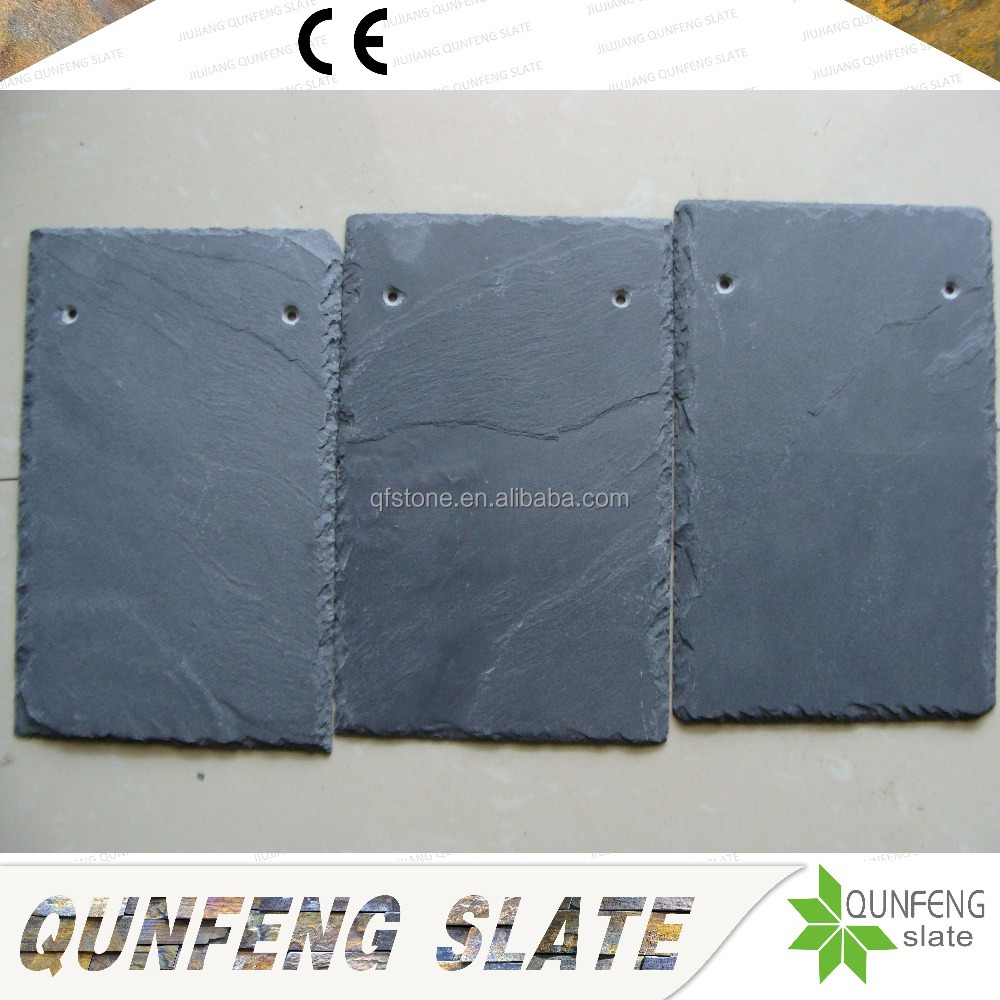 CE Passed Chinese Factory Direct Sale Natural Black Stone Thin Slate Roofing Tile