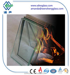 safety 1.5 hours 6mm fire rated glass