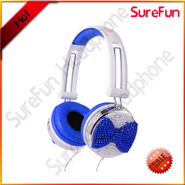 crystal rhinestone bling bling headphones for gift and promotion
