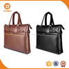 Fashion style design pu leather waterproof tote laptop bags for men