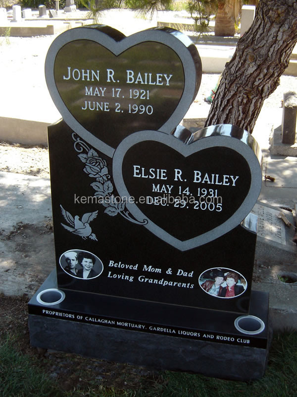 European Granite Double Tombstone
