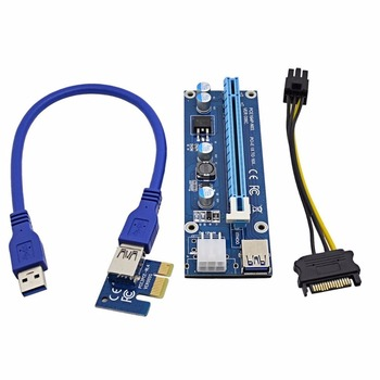 60cm USB 3.0 Extension Cable and 6-Pin PCI-E to SATA Power Cable